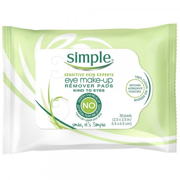 Simple Sensitive Skin Experts Eye Make Up Remover Pads 30 Ea 087300272221