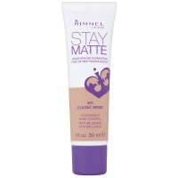 Rimmel London Stay Matte Liquid Mousse Foundation, Classic Beige [201] 1 oz [3607342675803]