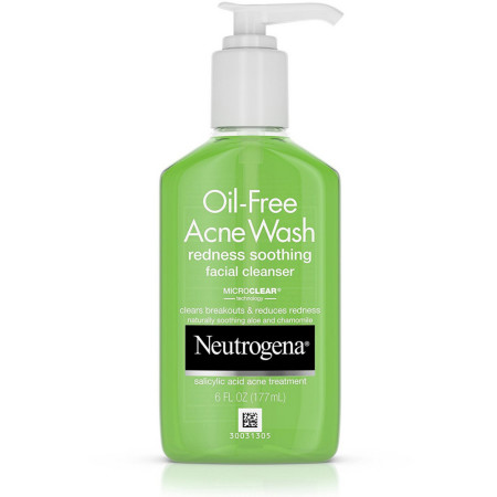 Neutrogena Oil-Free Acne Wash Redness Soothing Facial Cleanser 6 oz [070501153666]