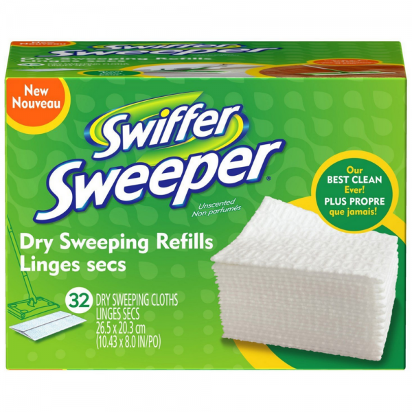 Swiffer Sweeper Dry Sweeping Cloths Refills Unscented 32