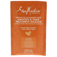 Shea Moisture Argan Oil & Almond Milk Smooth & Tame Treatment Masque, 2 oz [764302205081]