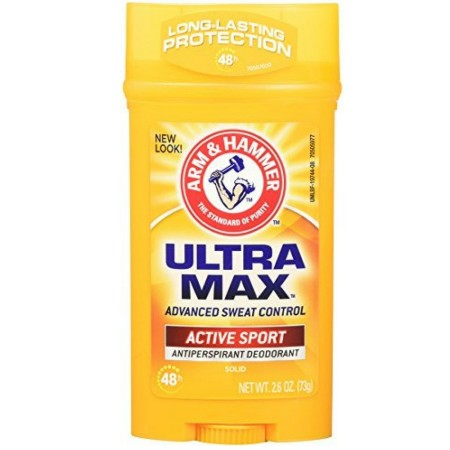 ARM & HAMMER ULTRAMAX Anti-Perspirant Deodorant, Active Sport 2.60 oz [033200197447]
