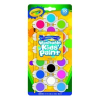 Crayola Washable Kid's Paint Assorted Colors 18 Each [071662003142]
