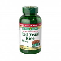 Nature's Bounty Red Yeast Rice 600 mg Capsules 250 ea [074312199899]