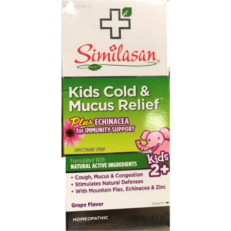 Similasan Kids Cold & Mucus Relief Syrup Plus Echinacea  4 oz [094841256153]