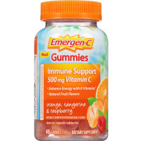 Emergen-C Gummies Immune Support With 500 Mg Vitamin C, Orange, Tangerine & Raspberry 45 ea [076314601455]