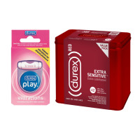 Durex  RED Condom Extra Sensitive (42 count) and Durex Play Vibrations Ring (1 ea) 1 ea [191567724048]