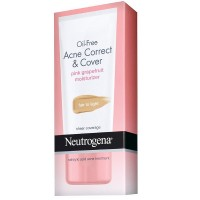 Neutrogena Oil-Free Acne Correct & Cover Pink Grapefruit Moisturizer, Fair to Light 1.7 oz [070501110607]