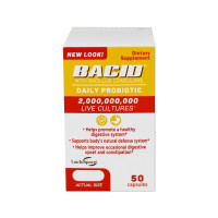 Bacid Daily Probiotic Dietary Supplement For Digestive Health, 50 ea [363736000080]