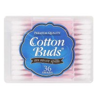 Cotton Buds Travel Size Premium Cotton Swabs 36 ea [083725421107]