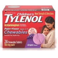 TYLENOL Children's Pain + Fever Chewables Tablets 160 mg, Grape Flavor 24 ea [300450518248]