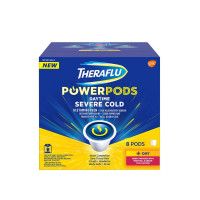 Theraflu PowerPods Daytime Severe Cold Relief, Berry with Menthol & Green Tea, 8 ea [300671117633]