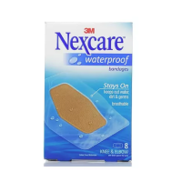 Nexcare Waterproof Clear Bandages Knee & Elbow 8 Each [051135813874]