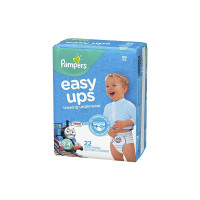 Pampers Easy Ups Pull On Disposable Training Diaper for Boys, Size 5 (3T-4T), 22 ea [037000764632]
