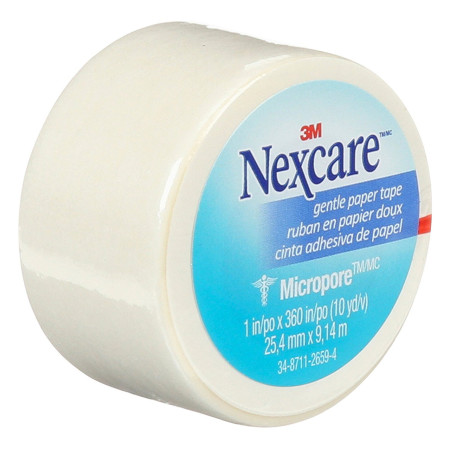 Nexcare Micropore Gentle Paper Tape 1 Inch X 10 Yards 1 ea [051131000155]