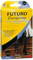 FUTURO Energizing Ultra Sheer Pantyhose For Women French Cut Lace Panty Mild Plus Black 1 Pair [382250065177]