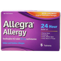 Allegra Adult 24 Hour Allergy Relief Tablets  5 ea [041167412008]