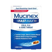 Mucinex Fast-Max Max Strength, Cold, Flu, & Sore Throat Liquid Gels 16 ea [363824586168]