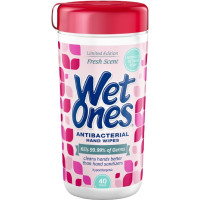 WET ONES Antibacterial Hand Wipes, Fresh Scent 40 Each [076828047039]