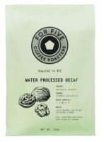 For Five Coffee Roasters Water Processed Decaf Whole Bean 12 oz [853473008352]