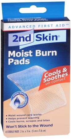 2nd Skin Moist Burn Pads 2 Inches X 3 Inches 4 Each [038472505037]