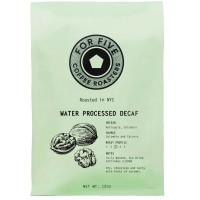 For Five Coffee Roasters Water Processed Decaf Ground 12 oz [853473008369]