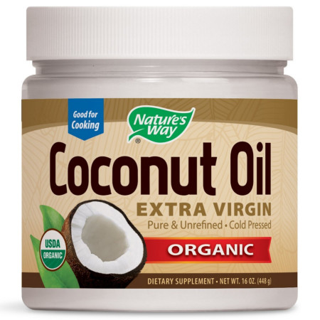 Nature's Way Organic Coconut Oil, Extra Virgin 16 oz [033674156735]