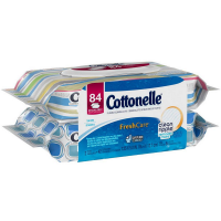 Cottonelle Fresh Care Flushable Cleansing Cloths Refills 84 ea -Packaging May Vary [036000359701]