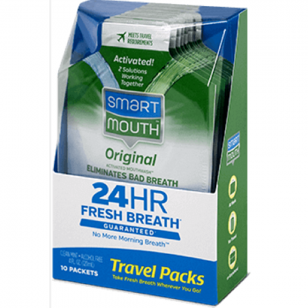 SmartMouth Mouthwash Packets Clean Mint 10 Each [697366001408]