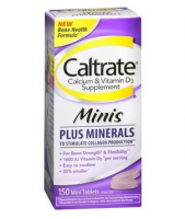 Caltrate Calcium & Vitamin D3 Supplement Plus Minerals Mini Tablets, 150 ea [300055512108]