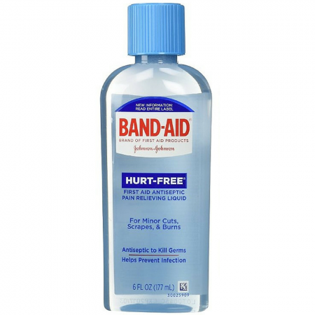 BAND-AID Hurt-Free Antiseptic Wash 6 oz [381370044598]