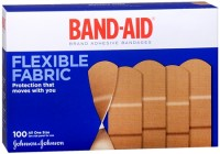 BAND-AID Flexible Fabric All One Size Adhesive Bandages 100 Each [381370044444]