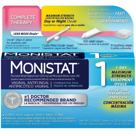 MONISTAT 1-Day Maximum Strength Vaginal Antifungal, Combination Pack, 1 ea [363736449407]