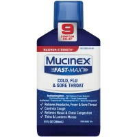 Mucinex Fast-Max Adult Liquid - Cold, Flu, & Sore Throat 9 oz [363824015699]