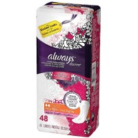 Always Discreet Very Light Absorbency Incontinence Liners, Regular Length 48 ea [037000886297]