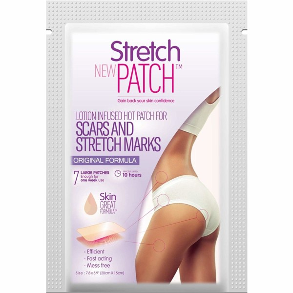 StretchPatch ORIGINAL Formula, Lotion Infused Hot Patch for Scars and  Stretch Marks, 7 ea (20 x 15cm)