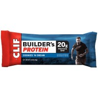 Clif Bar Builder's Protein, 2.4 oz bars, Cookies 'n Cream 12 bars [722252601407]