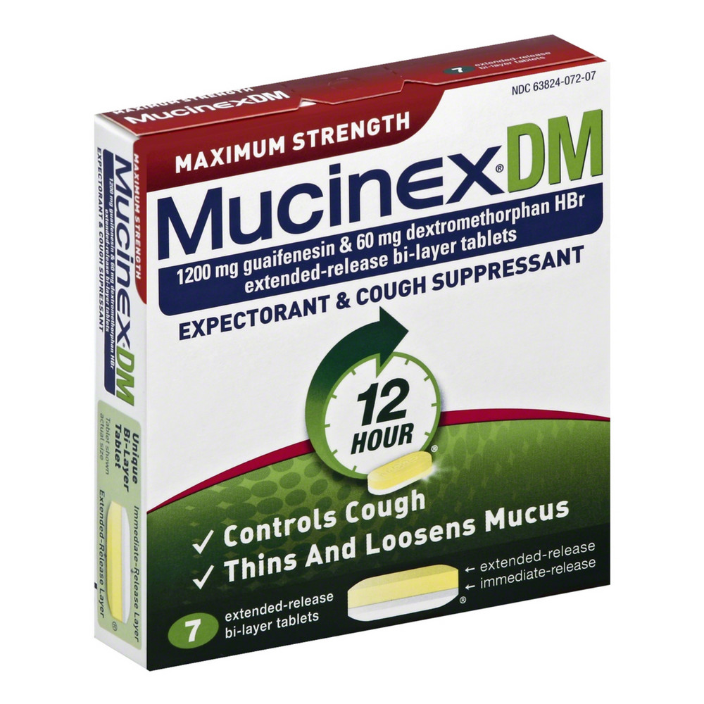Mucinex DM Max Strength Extended Release Bi-Layer Tablets