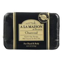 A La Maison de Provence Earth & Spa Therapy Soap Bar, Charcoal 8.8 oz [817252012886]