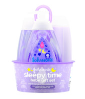 JOHNSON'S Sleepy Time Baby Gift set with Relaxing Naturalcalm Aromas, Bedtime Essentials 4 ItemS [381371177479]