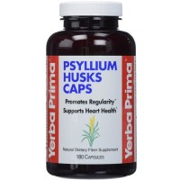 Yerba Prima Psyllium Husks Supplement Capsules 180 ea [046352001067]