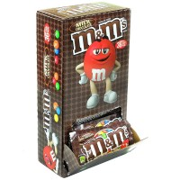 M&M's Milk Chocolate Candy, Single 1.69 oz, 36 ea [040000499916]