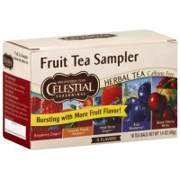 Celestial Seasonings Herbal Tea Bags, Fruit Tea Sampler 18 ea [070734055003]