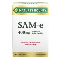 Nature's Bounty SAM-e 400 mg Tablets Double Strength 30 Tablets [074312131851]