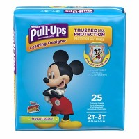 Toddler Training Pants PullUps Learning Designs Pull On 2T  3T Disposable Heavy Absorbency - 25 ea [036000451382]