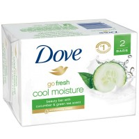 Dove go fresh Beauty Bar Cucumber and Green Tea 4 oz, 2 Bar [011111611023]
