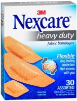 Nexcare Heavy Duty Flexible Fabric Bandages Assorted 30 Each [051131995222]
