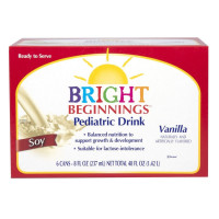 Bright Beginnings Soy Pediatric Oral Supplement, Vanilla 8 oz Can Ready to Use [683744350091]