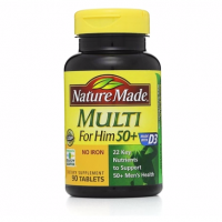Nature Made Multi for Him 50+ Dietary Supplement Tablets 90 ea [031604017903]