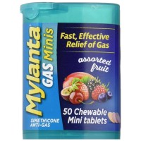 Mylanta  Gas Mini Tabs Assorted Fruit 50 ea [819903010371]